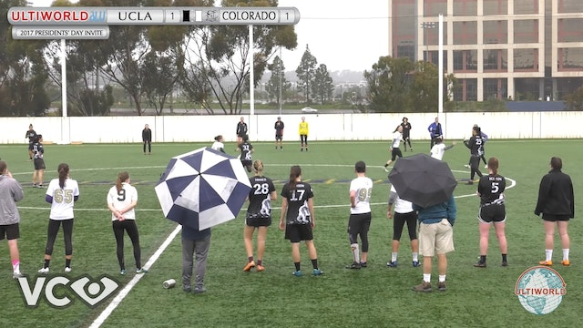 2017 Presidents' Day Invite - UCLA v. Colorado (W Pool) presented by VC Ultimate