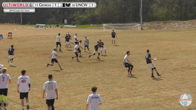 Classic City Invite 2019: #11 Georgia vs #16 UNCW (M)