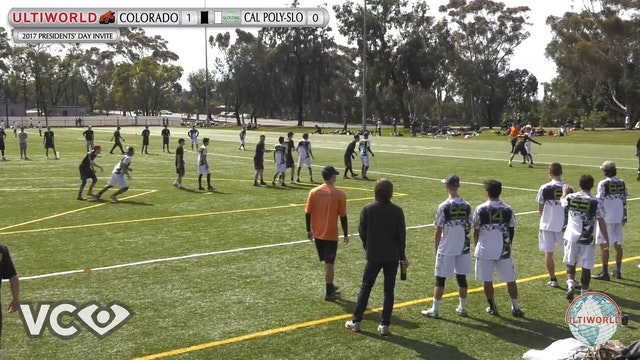 2017 Presidents' Day Invite - Colorado v. Cal Poly-SLO (M Pool) presented by VC Ultimate