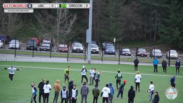 Bellingham Invite 2018: UBC v Oregon (M Round Robin)