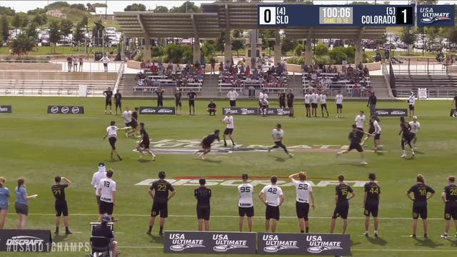 D-I College Championships 2019: #6 Colorado vs #4 Cal Poly SLO (M)
