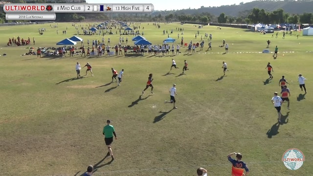 High Five vs. Madison Club | Men's Pool Play | Club Championships 2018