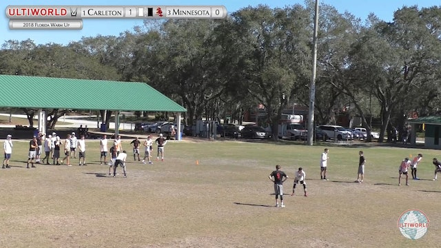 Florida Warm Up 2018: #1 Carleton v #3 Minnesota (M Semifinal)