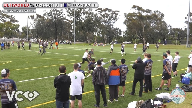 2017 Presidents' Day Invite - Oregon v. UCSD (M Pool) presented by VC Ultimate