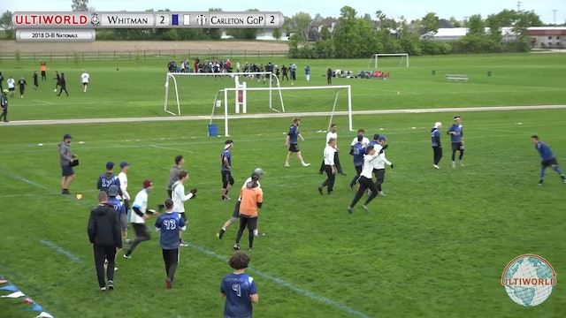 Carleton GOP vs. Whitman | Men's Quarterfinal | D-III College Championships 2018