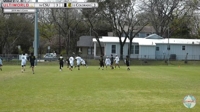 Men's Centex 2019: #16 Colorado State vs #13 Colorado (M)