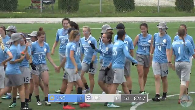 2018 D-I Nationals: UNC v. UBC (W)