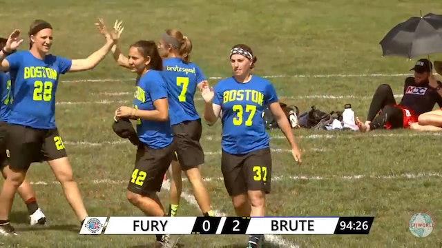 WUCC 2018: Fury (USA) v. Brute Squad (USA) [Women's Quarters]