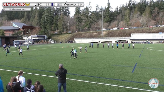 British Columbia vs. Whitman | Women's Round Robin | Bellingham Invite 2018