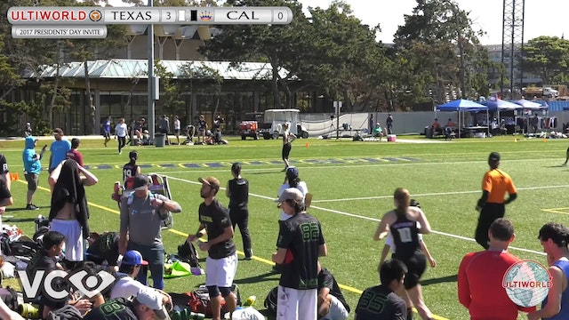 2017 Presidents' Day Invite - Texas v. Cal (W Quarter) presented by VC Ultimate