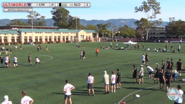 Santa Barbara Invite 2019: #11 Cal Poly-SLO vs #7 UW (M Quarter)