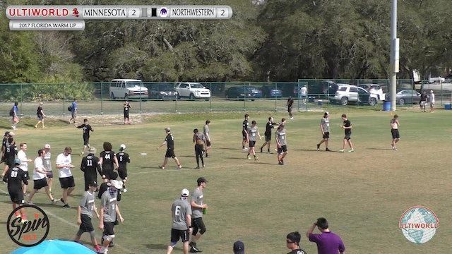 Minnesota vs. Northwestern | Men's Semifinal | Florida Warm Up 2017