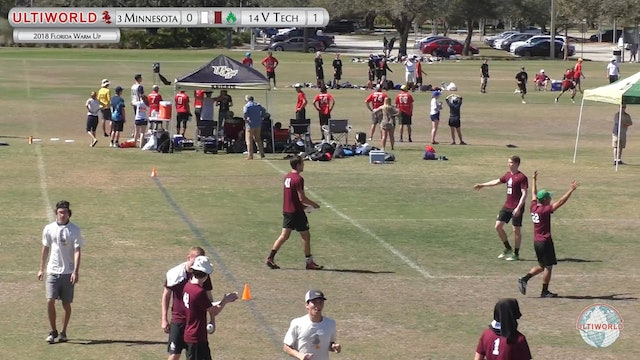 Florida Warm Up 2018: #3 Minnesota v #14 Virginia Tech (M 3rd place)