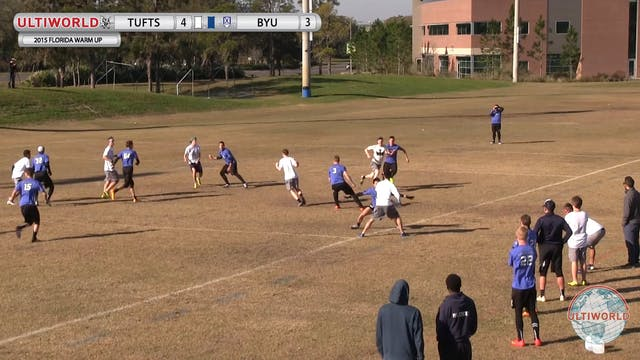 Florida Warm Up 2015: Tufts v BYU (M)