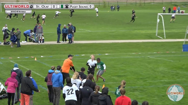 Puget Sound vs. St. Olaf | Women's Semifinal | D-III College Championships 2018