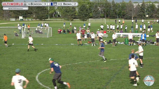 Bowdoin vs. John Brown | Men's Prequarter | D-III College Championships 2018