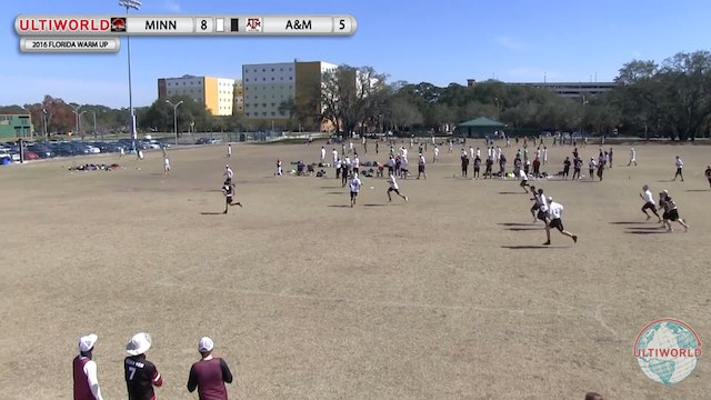 [2016-Warm Up-M] Texas A&M v Minnesota (Semis)