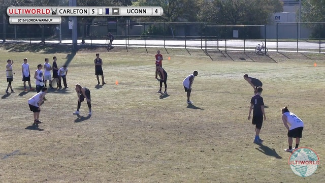[2016 Warm Up-M] Carleton v UConn