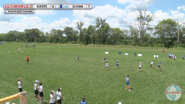6ixers vs. Schwa | Women's Final | El...