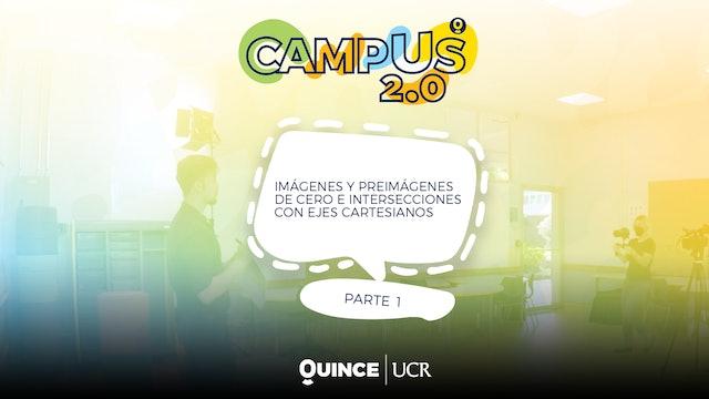 Campus 2.0: Imágenes y preimágenes de 0 e intersecciones con ejes cartesianos