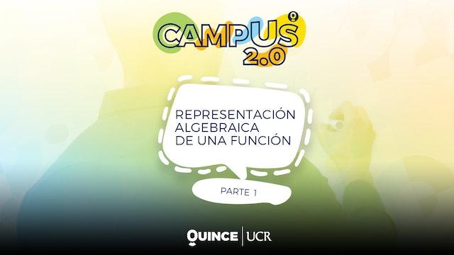 Campus 2.0: Representación algebraica de una función (parte1)