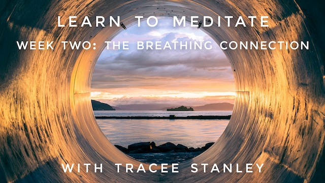 """Week 2: """"The Breathing Connection"""" Learn To Meditate: Tracee Stanley"""