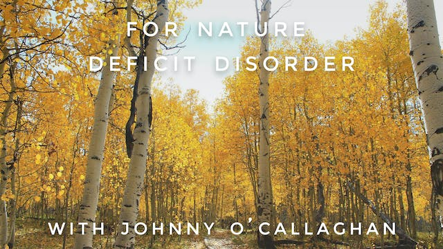 For Nature Deficit Disorder: Johnny O...
