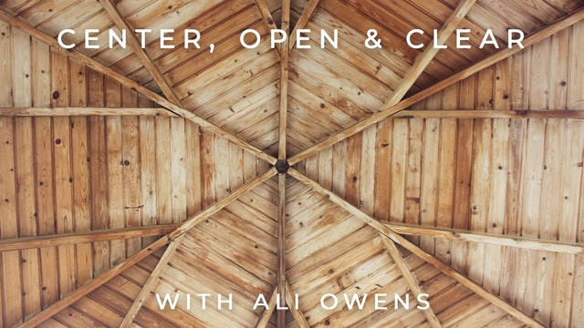 Center, Open & Clear: Ali Owens