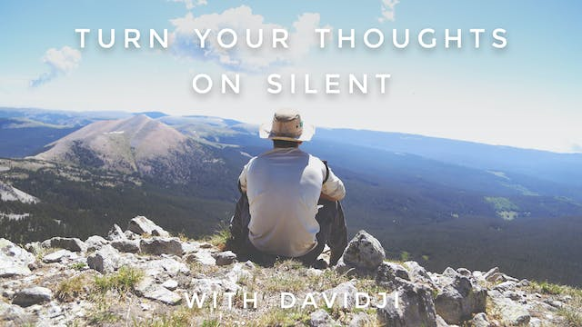 Turn Your Thoughts On Silent: davidji