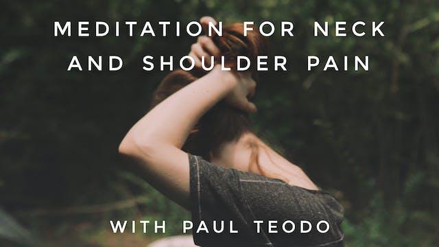 Meditation For Neck And Shoulder Pain...