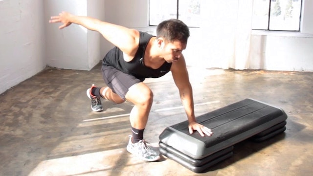 10 Minute Athletic Cardio Fat Step Workout
