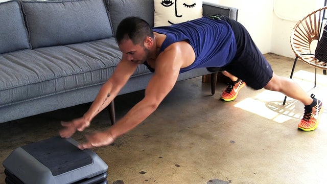 15-Minute Hardcore HIIT Bench Blaster with Weights!