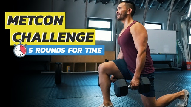 MetCon Challenge for Time: Burpees, Lunges, V-Ups