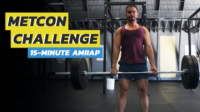 15-Minute AMRAP: Deadlifts & Burpees