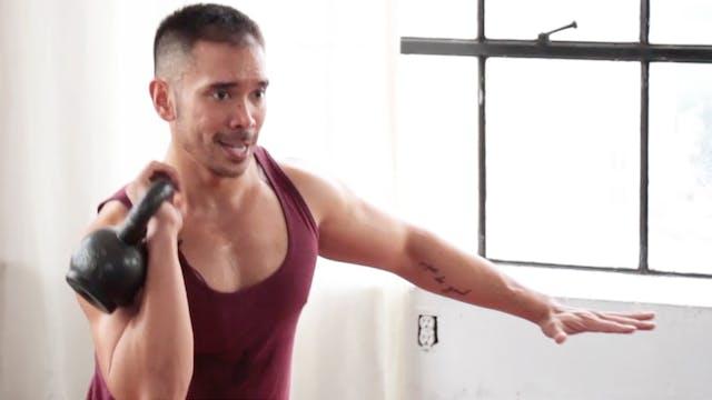 10 Min Calorie Blast Kettlebell Workout