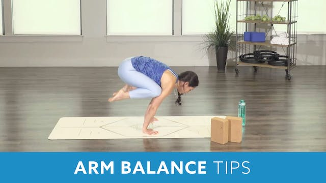 Arm Balance Crow Pose Tips with Nina