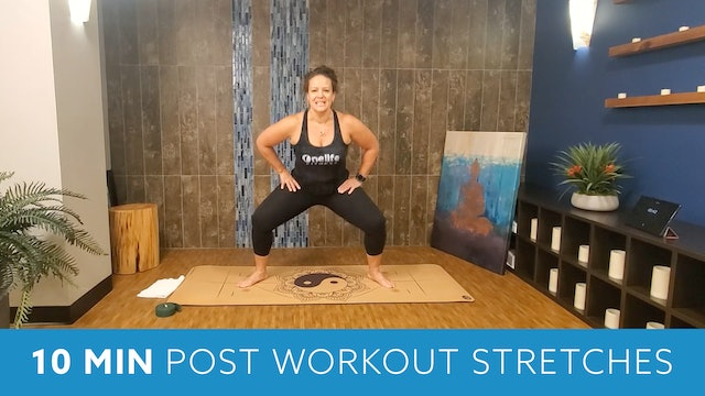 10 Min Post Workout Stretches with Morgan