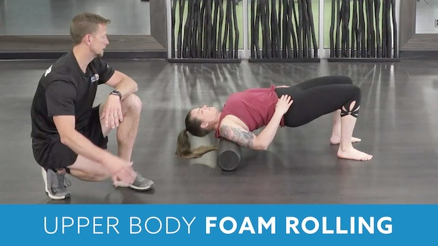 Neck Foam Rolling Mobility Work with Kris