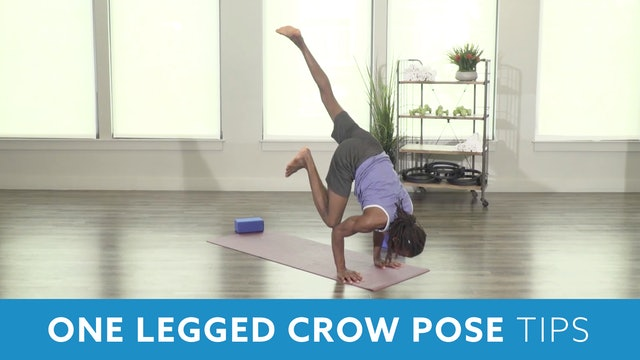 One Legged Crow Pose Tips with Marlon
