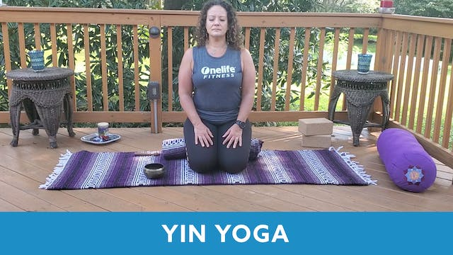 Yin Yoga with Morgan on the back deck...