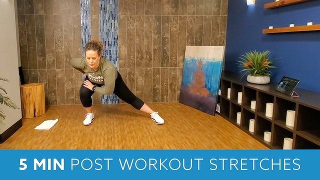 5 Min Post Workout Stretches with Morgan
