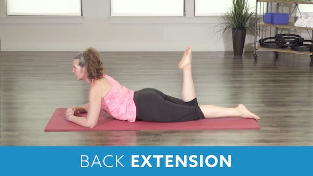 Pilates Back Extension with Juli
