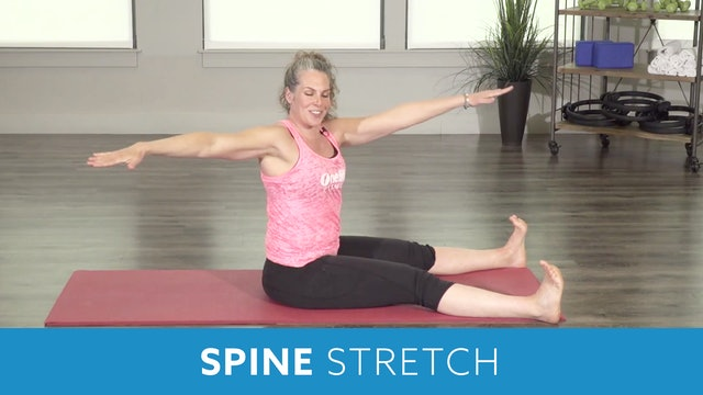 Pilates Mat Series - Spine Stretch Forward with Juli