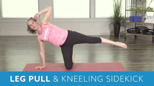 Pilates Leg Pull Down & Kneeling Sidekick with Juli