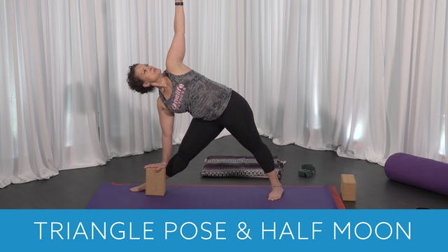 Triangle Pose & Half Moon Pose Tips w...