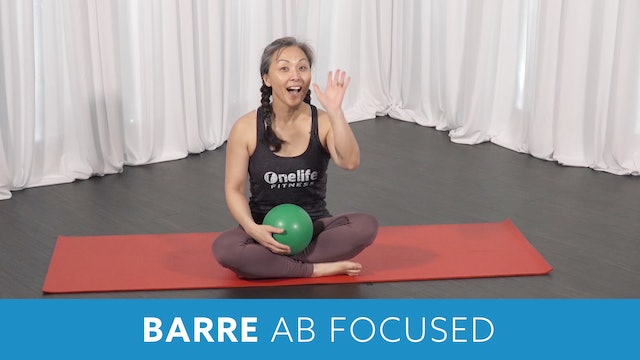 Transformation Challenge - (Week 8 Workout 3) Barre Ab Focused with Miho