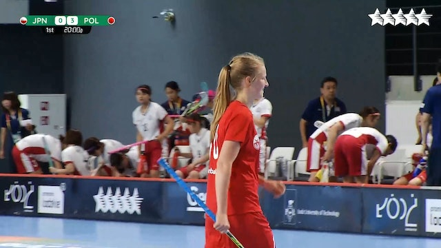 LIVE - Floorball - JPN vs POL - FISU 2018 World University Championship - Women Group A - Day 1