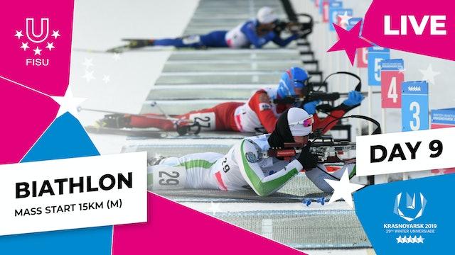 Biathlon | Men's Mass Start 15km |Winter Universiade 2019