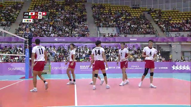 Volleyball: Men's QF4 JPN vs POR