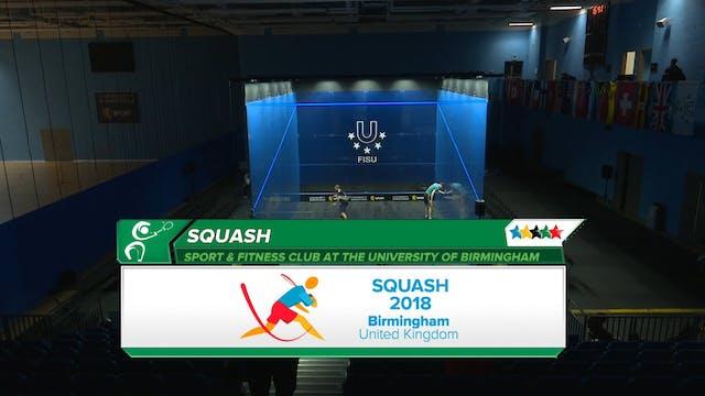 SQUASH - Individual Semi-Finals -2018...